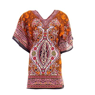 Hastkala Women's Kaftan / Caftan / Caftans Beachwear Swimwear Kaftan Short Summer Cocktail Dress Kimono dress