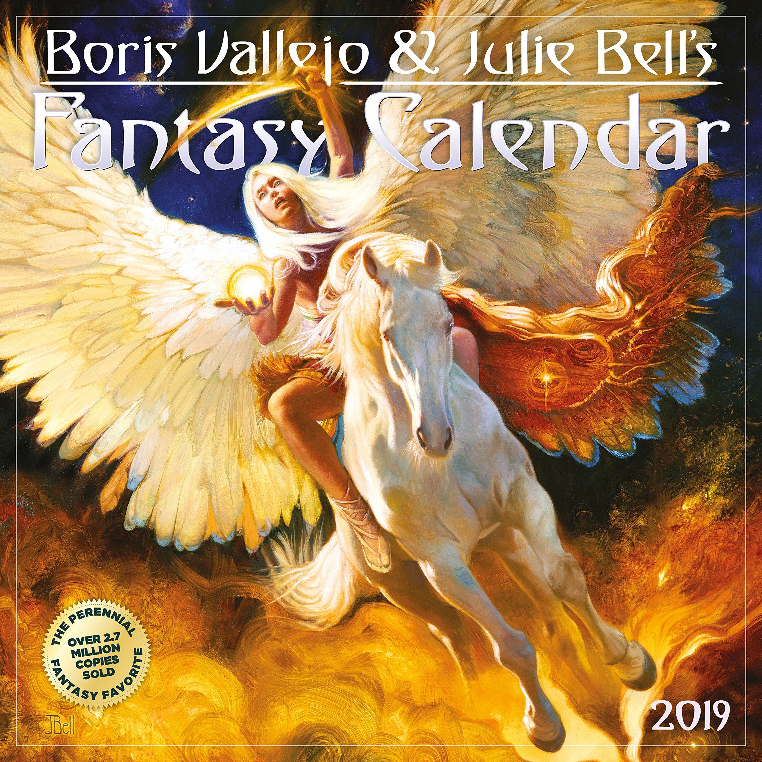 Boris Vallejo & Julie Bell's Fantasy Wall Calendar 2019 by Workman Publishing (Image #1)