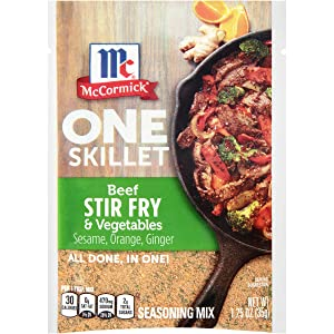 McCormick One Skillet Beef Stir Fry & Vegetables Seasoning Mix, 1.25 oz (Pack of 12)