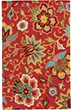 Jaipur Living Zamora Hand-Tufted Floral & Leaves Red Area Rug (2' X 3')