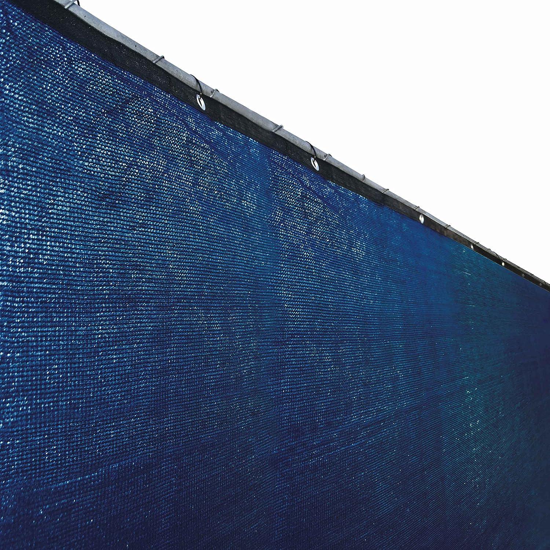amazon com aleko 4 x 25 feet blue fence privacy screen outdoor
