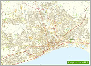 Kingston upon Hull Map Size 220 x 160 cm APPROX Amazoncouk