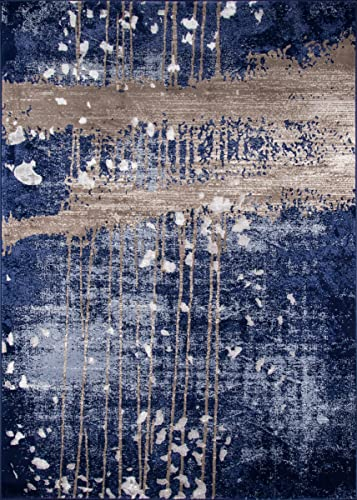 Momeni Rugs Monterey Collection Contemporary Area Rug, 5 0 x 7 6 , Blue