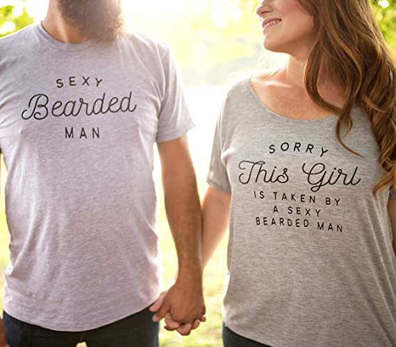 cabc1de87c Amazon.com: Husband and Wife Matching Couples Shirt Cute Honeymoon Clothing  Gift: Handmade