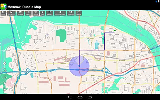 Amazon.com: Moscow, Russia Offline Map: PLACE STARS ...