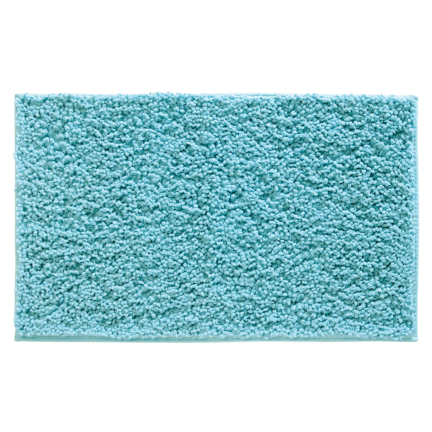 Amazon.com: InterDesign Microfiber Fuzi Bathroom Shower Accent Rug, 34 x  21, Aqua: Kitchen u0026 Dining