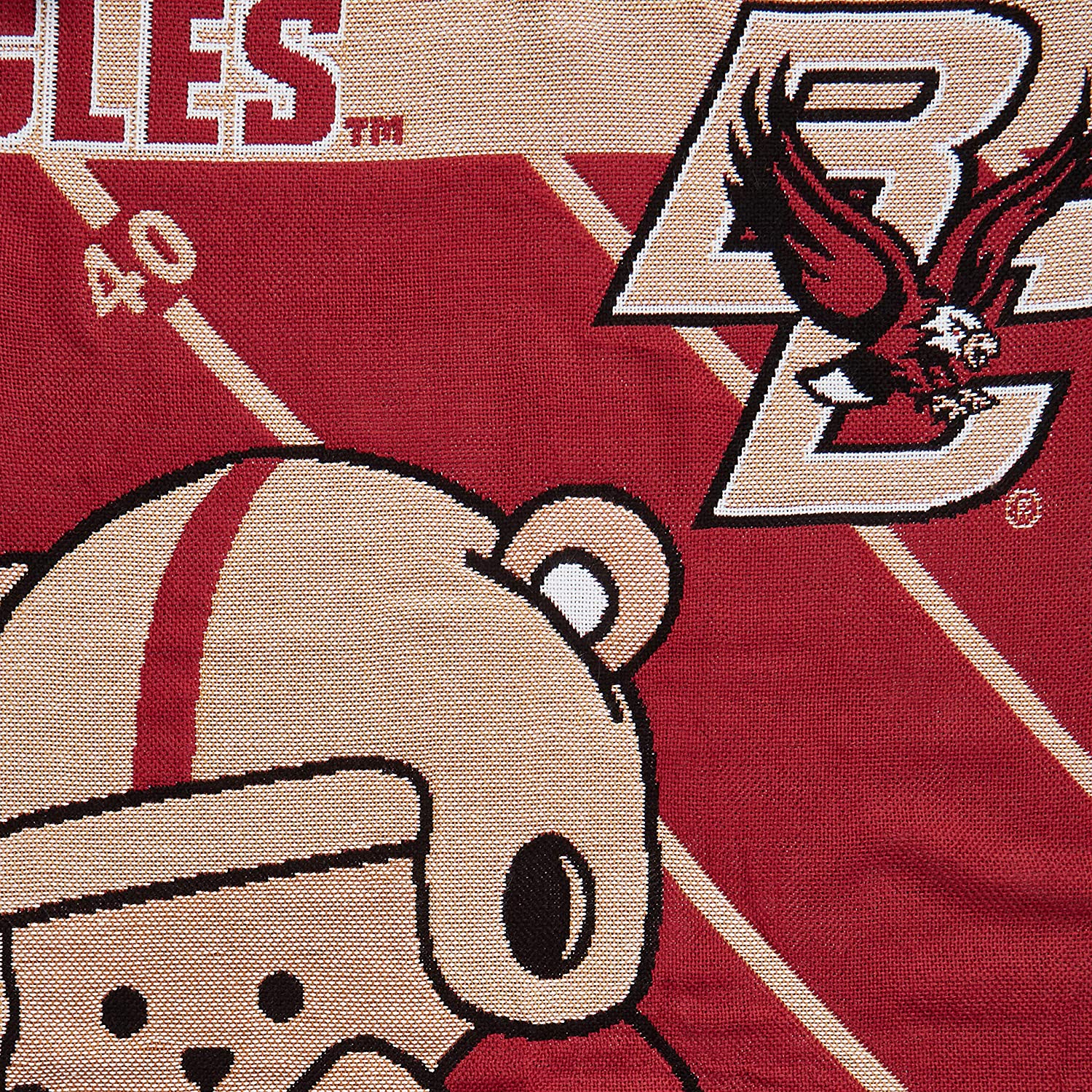 36 x 46 Officially Licensed NCAA Washington State Cougars Fullback Jacquard Baby Throw Blanket Multi Color