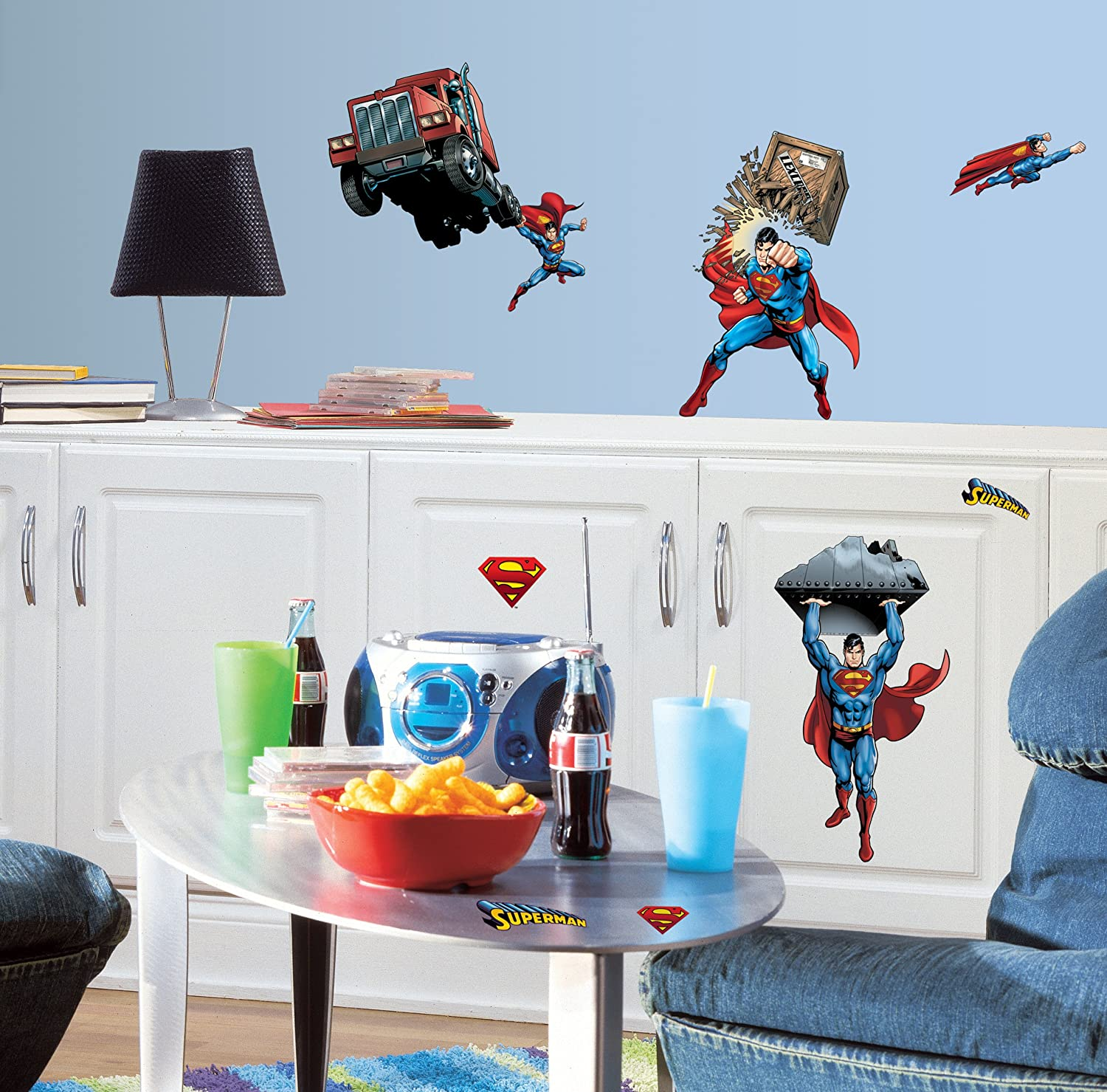amazoncom roommates rmkscs superman day of doom peel  - amazoncom roommates rmkscs superman day of doom peel  stick walldecals home improvement