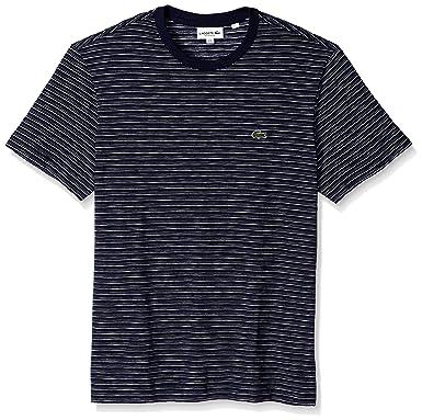 d7c28a06 Lacoste Men's Short Sleeve Jersey Jacquard Regular Fit T-Shirt, TH3264 |  Amazon.com
