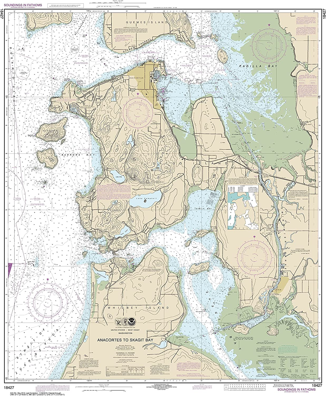 MapHouse NOAA Chart 14844 Islands in Lake Erie;Put-in-Bay 47.93 X 31.68 Paper Chart