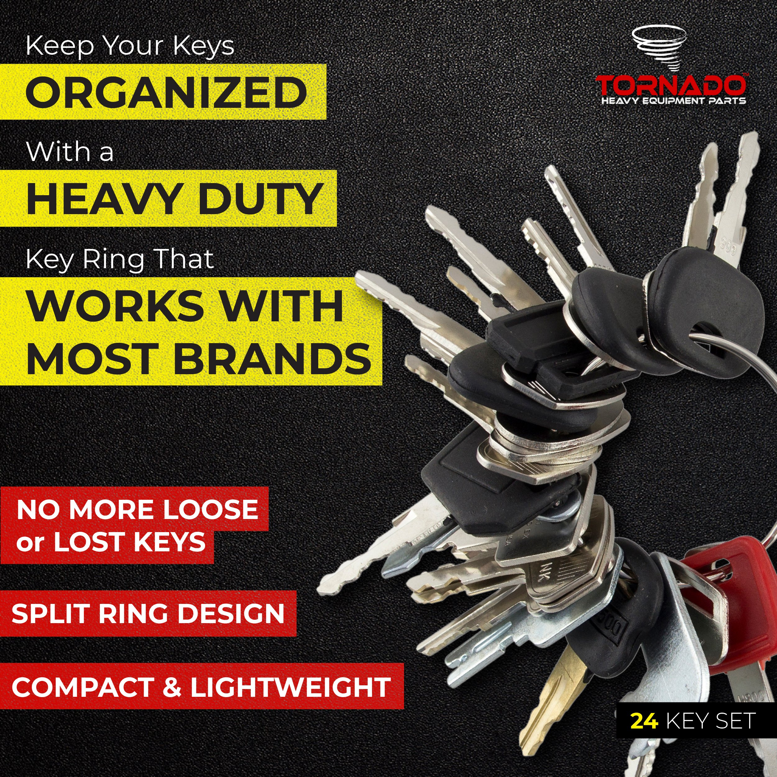 TORNADO HEAVY EQUIPMENT PARTS 21-36 CONSTRUCTION IGNITION KEY SETS - Comes in sets of 21, 24, 27, 30, 33, 36, for backhoes, tools, case, cat, etc. See product description for more info (24 Key Set) by TORNADO HEAVY EQUIPMENT PARTS (Image #7)
