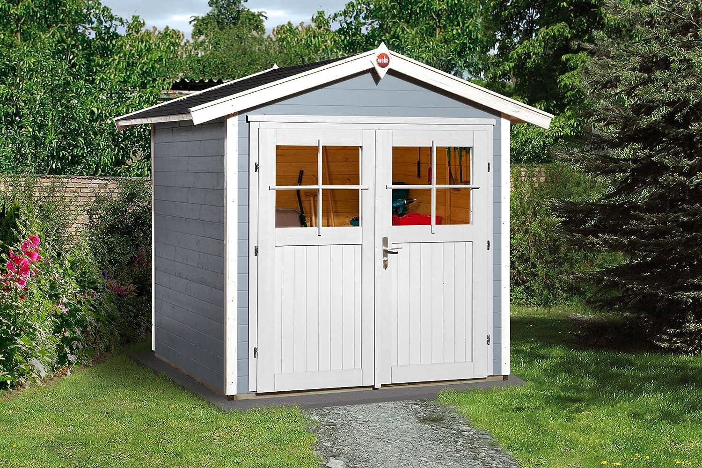 Weka Gartenhaus 224 Größe 2 mit Doppeltür grau