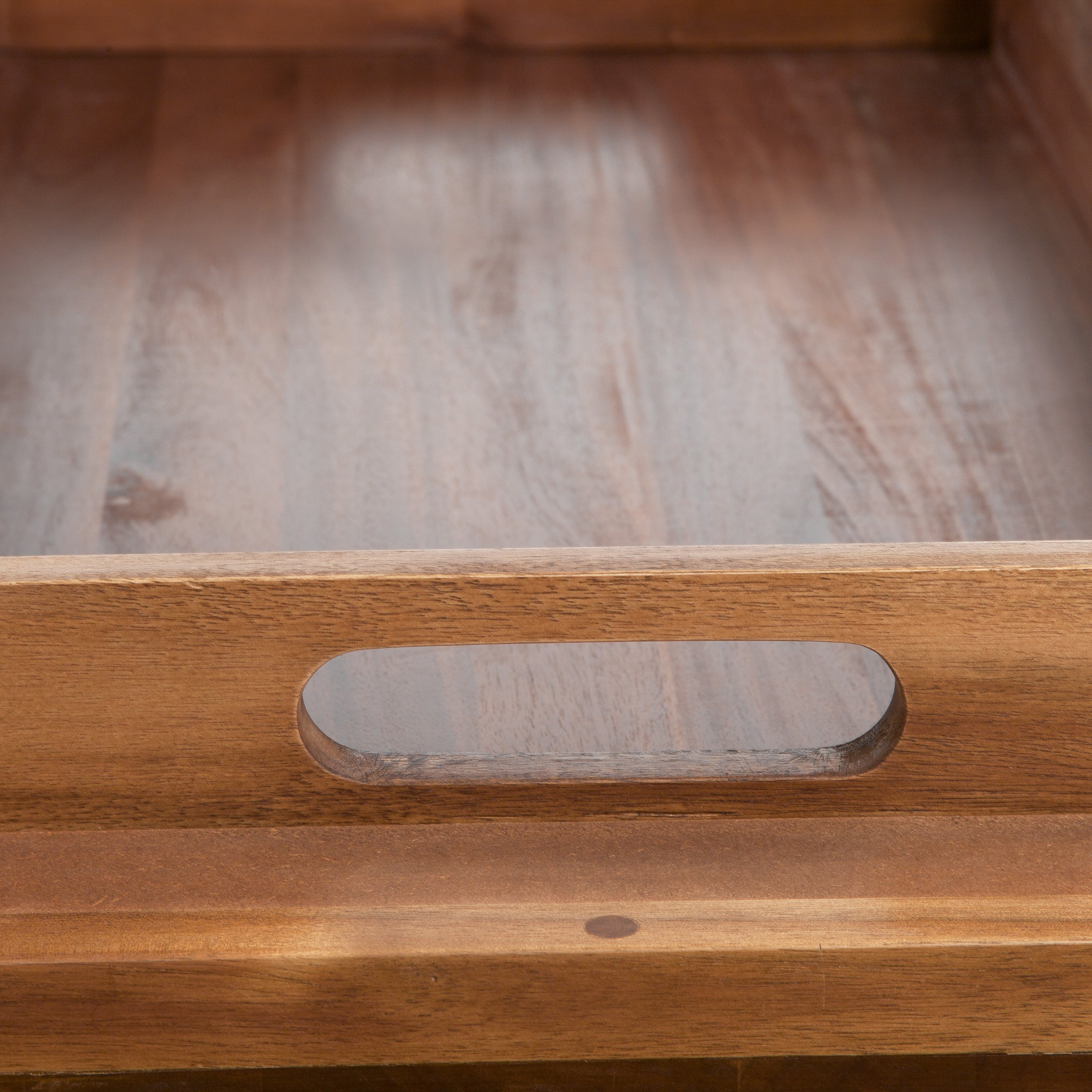 Great Deal Furniture 217178 Northside Acacia Wood Bench Ottoman, Brown by Great Deal Furniture