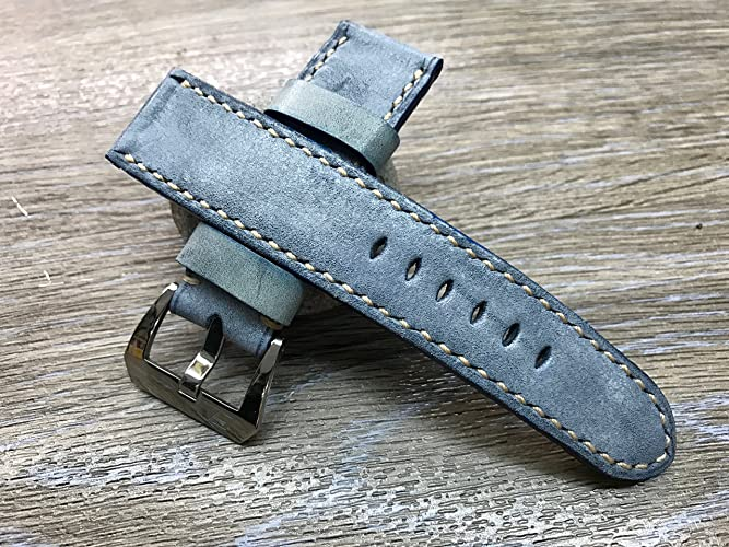 e0a50af4b Image Unavailable. Image not available for. Color: Handmade Leather watch  strap | 24mm Vintage ...