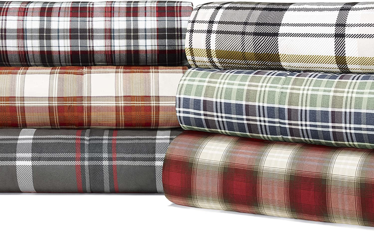 Amazon Com Eddie Bauer Home Navigation Collection Bedding Set 1 Cotton Soft And Cozy Reversible Plaid Comforter Twin Red Home Kitchen