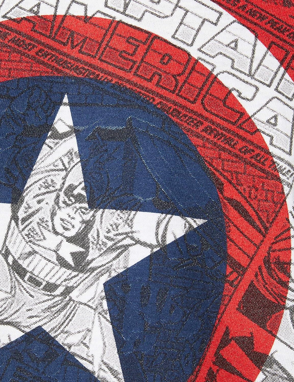 Marvel Ca Comic Shield Maglietta a Maniche Lunghe Uomo