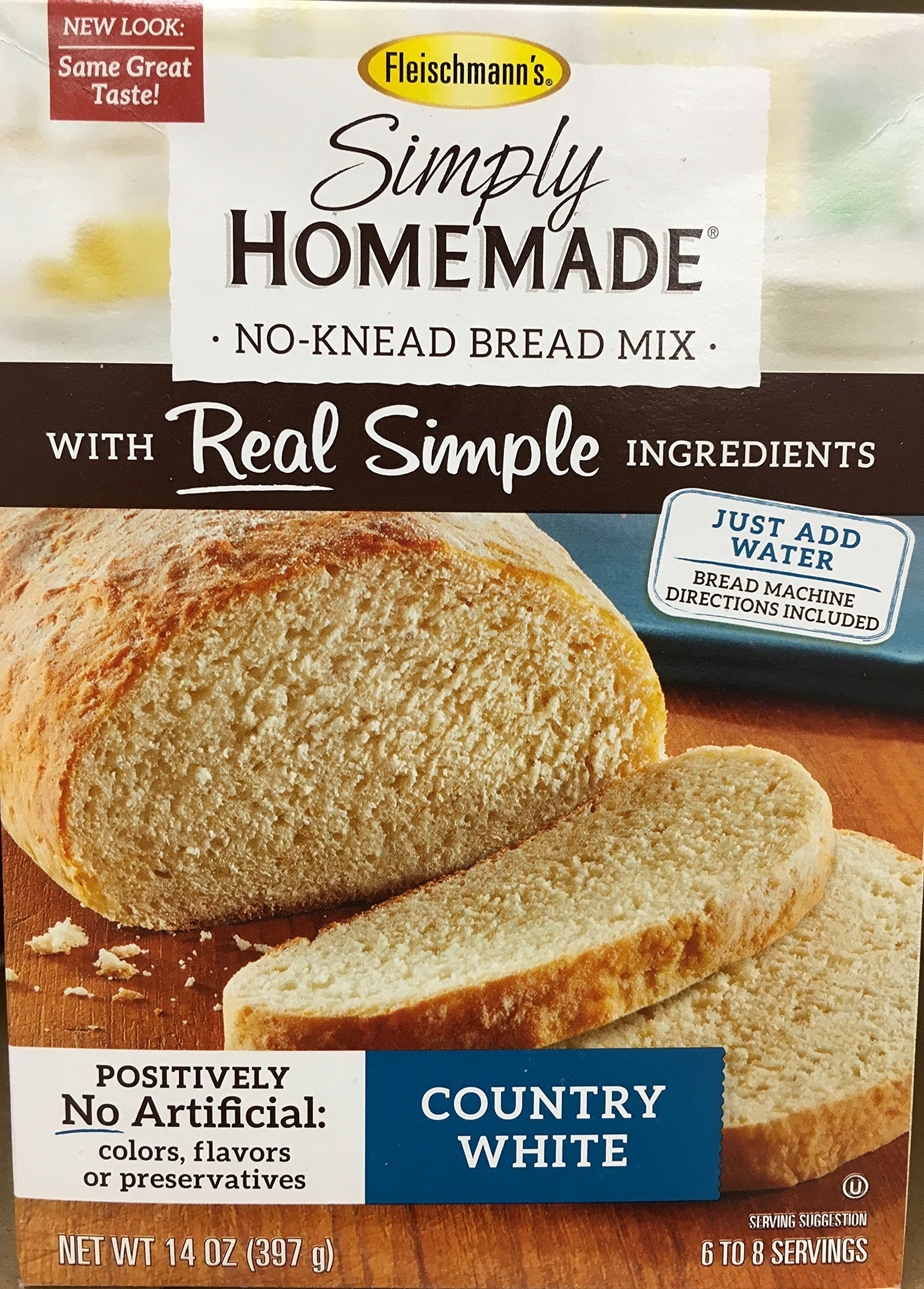 Simply Homemade No Knead Bread Mix, 14 Oz. Country White 2-pack