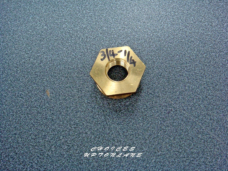 Rosca hexagonal de lat/ón Lat/ón 1 X 3//4 varios tama/ños de macho a hembra de reducci/ón