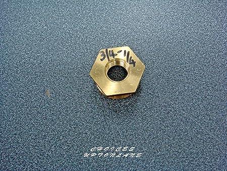 Lat/ón 1 X 3//4 varios tama/ños Rosca hexagonal de lat/ón de macho a hembra de reducci/ón