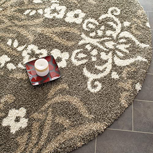 Safavieh Florida Shag Collection SG457-7913 Floral Textured 1.18-inch Thick Area Rug