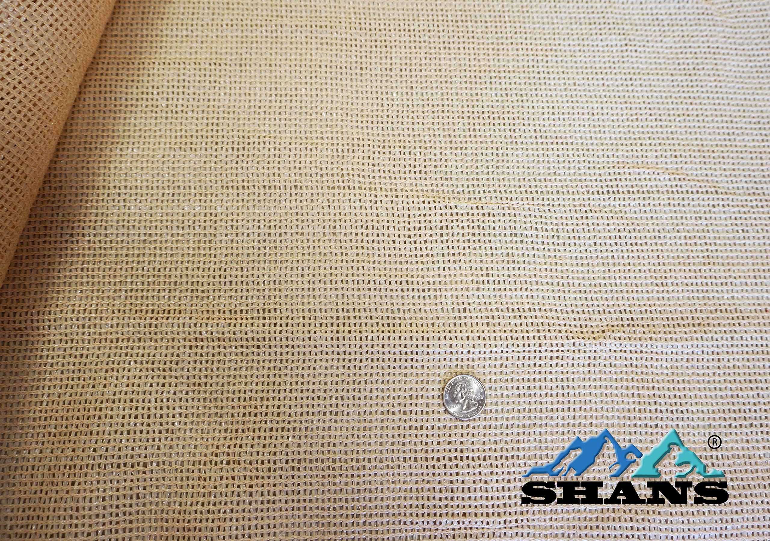 SHANS Wheat Shade Cloth Blocks 70% of UV with Free Clips (20ft x 50ft) by SHANS (Image #4)