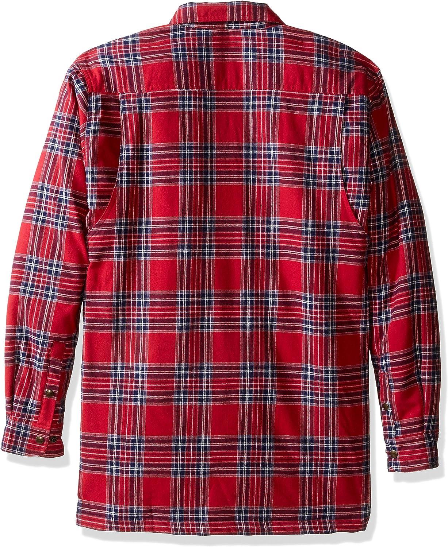 Backpacker Mens Flannel//Quilt Lined Shirt Jacket