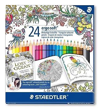 Staedtler 157 C24JB Ergosoft Colouring Pencils With Johanna Basford Packaging
