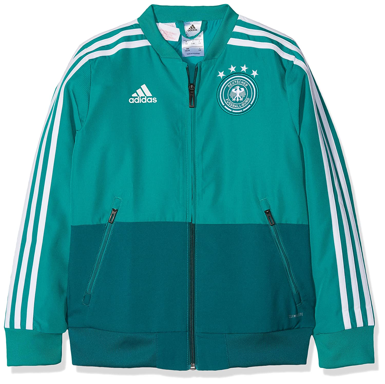 2018-2019 Germany Adidas Presentation Jacket (Green) Kids B0778ZQ33N Medium Boys 28-30