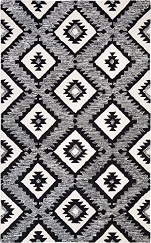 Safavieh Aspen Collection APN813Z Handmade Wool Area Rug, 9 x 12 , Charcoal Black