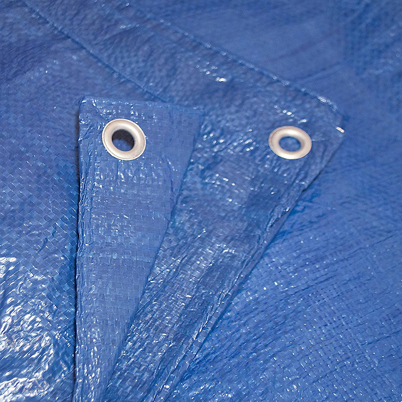 ALEKO TR30X50BL Multi-Purpose Polyethylene Plastic Tarp Waterproof for Camping Automotive Construction 30 x 50 Feet Blue