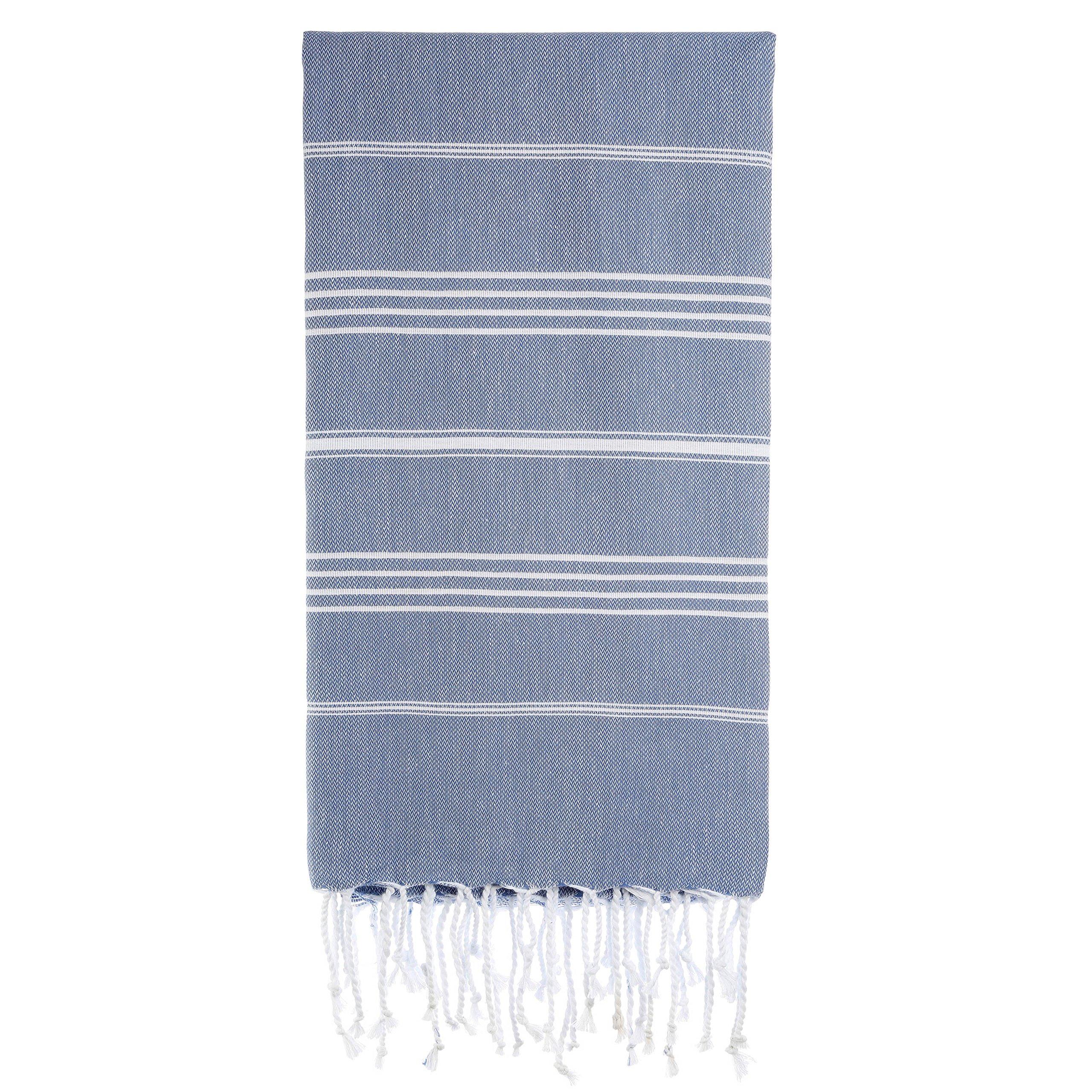 Cacala Toallas de baño Turco de Serie, algodón, Gris, Azul, 95 x 175 x 0.5 cm product image