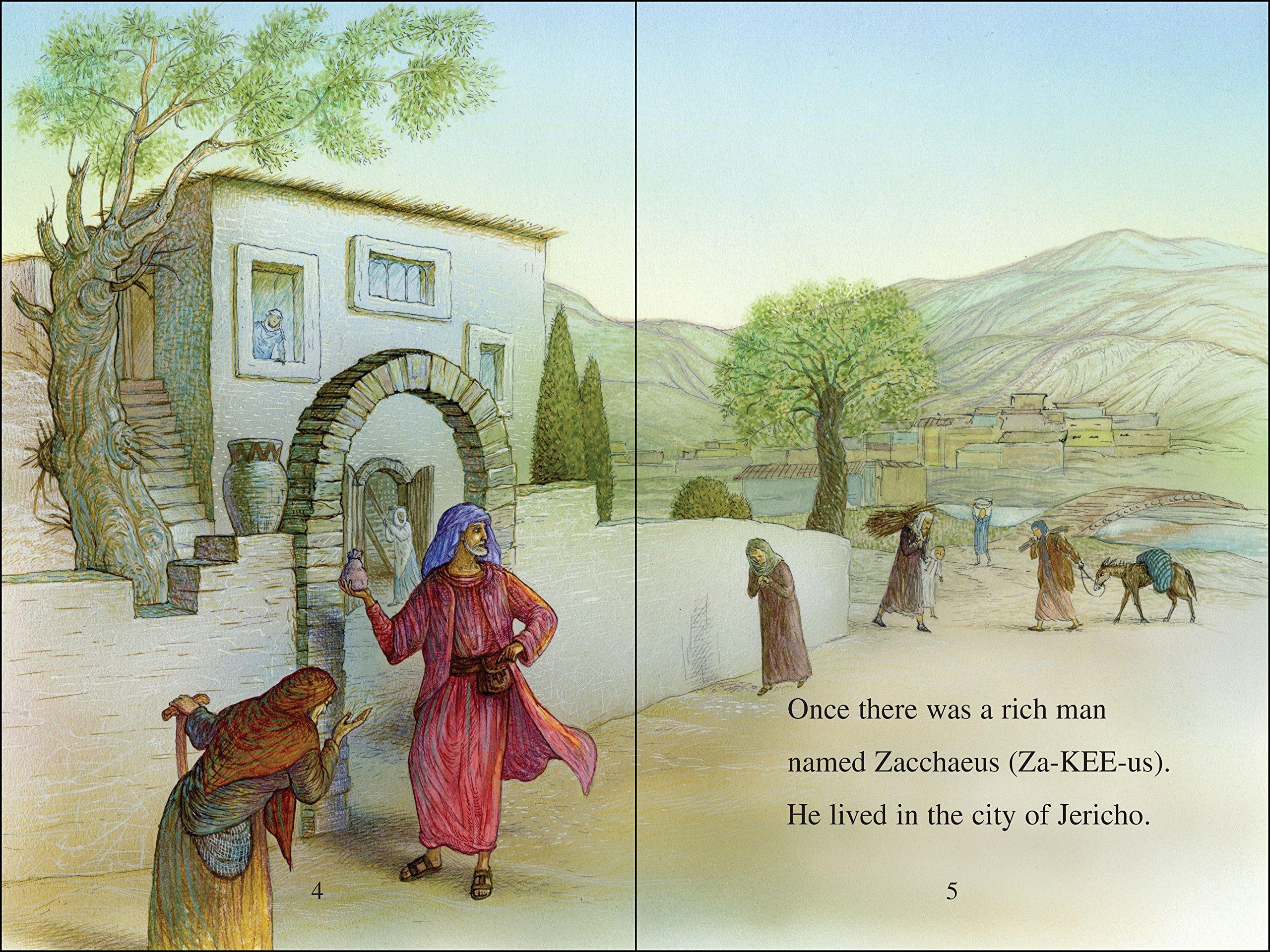 Amazon.com: Zacchaeus Meets Jesus (I Can Read!/Bible Stories ...