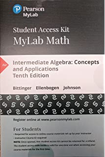 Intermediate algebra concepts and applications 10th edition mylab math with pearson etext standalone access card for intermediate algebra fandeluxe Image collections