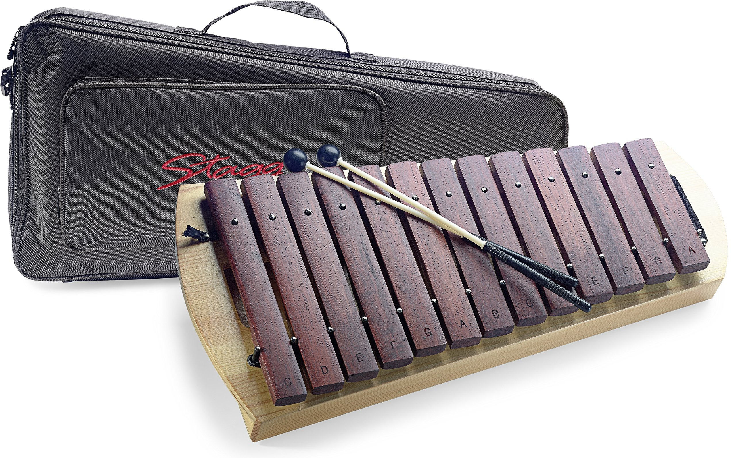 Stagg XYLO-P16 16-Key Diatonic Xylophone with Gig Bag & Mallets Included