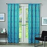 Eclipse Paloma 63-Inch Single Room-Darkening Window Curtain Panel, Teal
