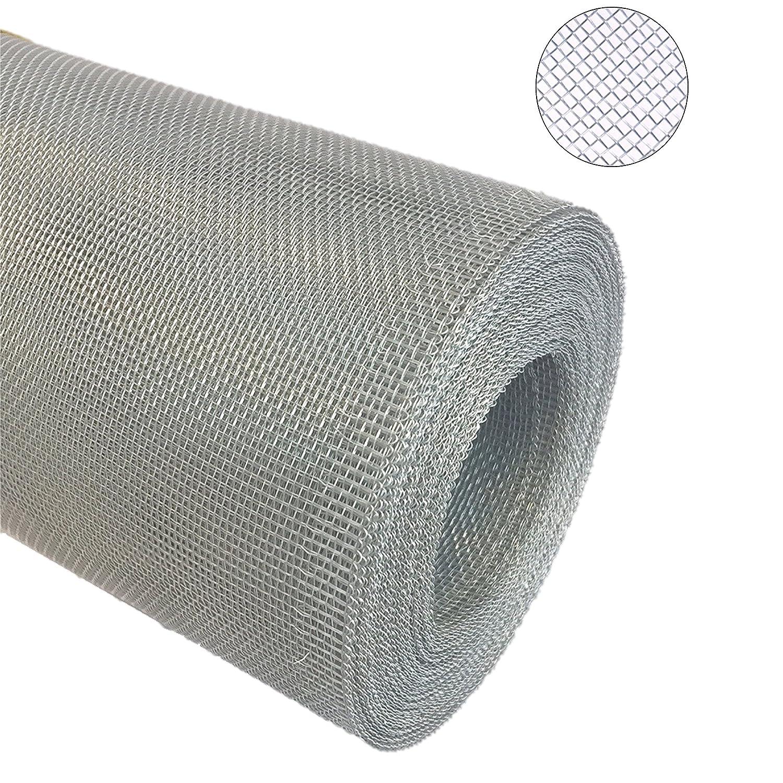 Aluminium Gewebe Fliegengitter Alu-Gewebe Fliegenschutz Alunetz Gitter Lichtschacht 12,50 m als Rolle x 1,0 m (100 cm), Grundpreis m² € 4,75