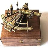 Heavy German Working Model Sextant Marine Sea Collectible Nautical Telescope
