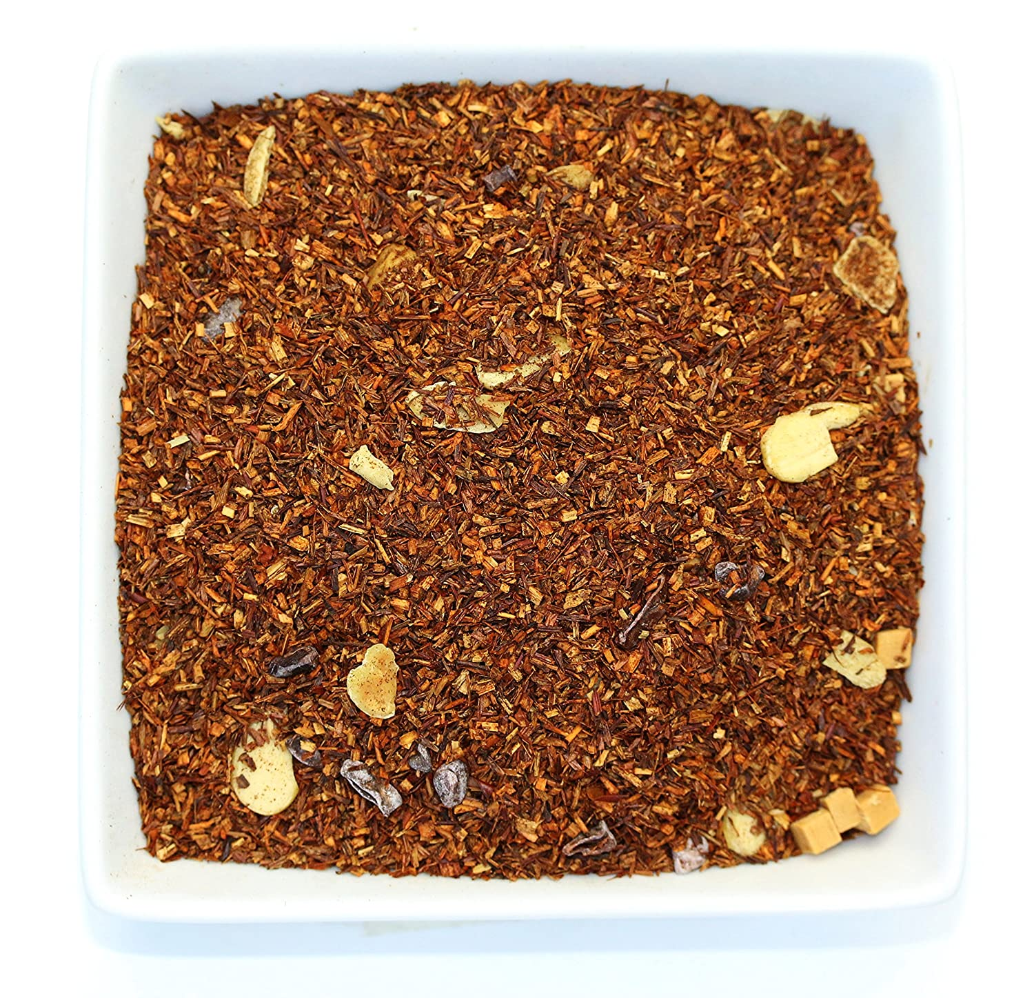Tealyra - Rooibos Toffee Caramel - Red Bush Herbal Leaves Tea - Cocoa - Almond - Loose Leaf Tea - Caffeine Free - 112g (4-ounce)