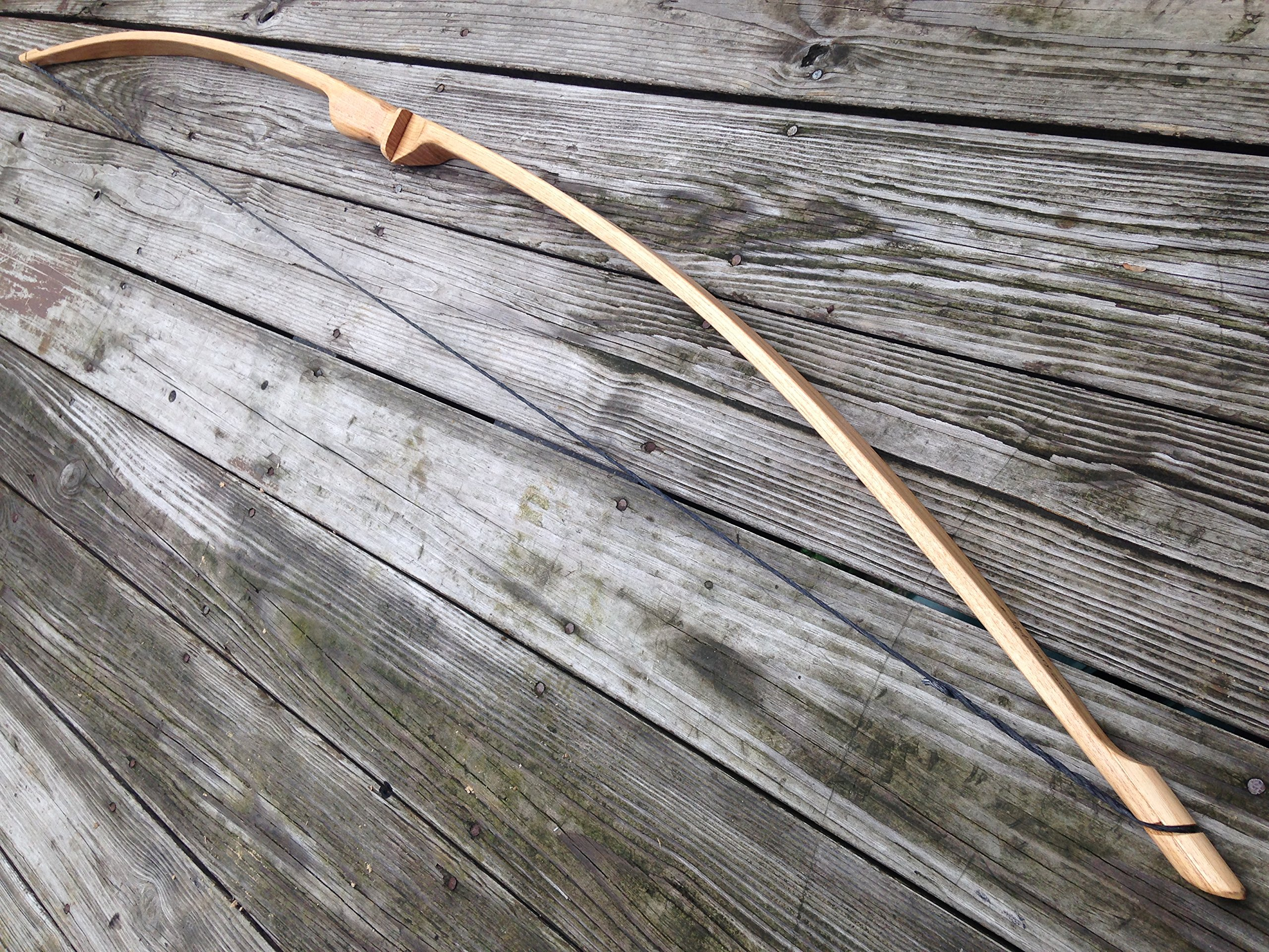 45/50lb 64'' Traditional Hickory Longbow! Competition or Hunting Bow! Wood Archery! by RingingRocksArchery.com