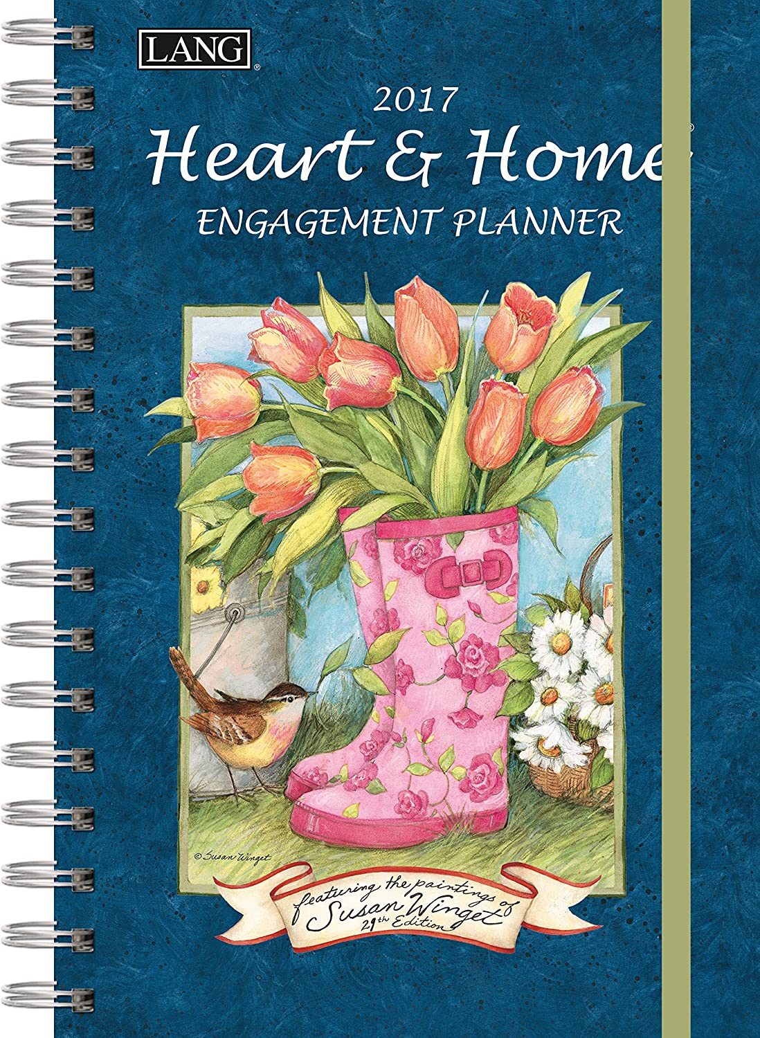 Lang 2017 Heart & Home Spiral Engagement Planner, 6 x 9 inches (17991011085)