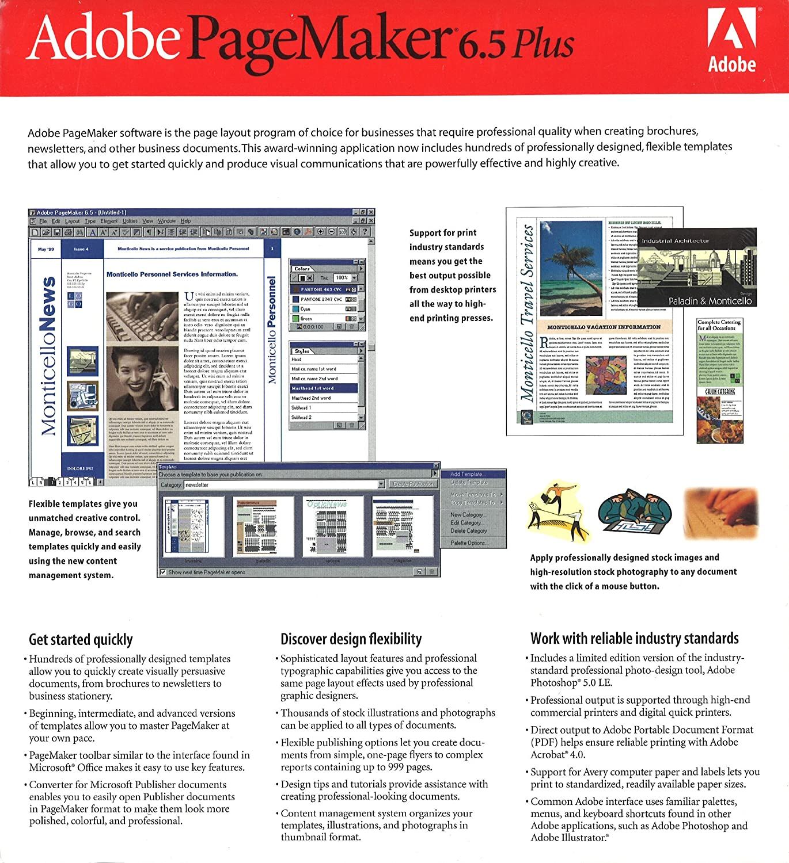 Amazon.com: Adobe PageMaker 6.5 Plus: Software