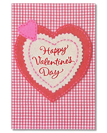 Amazon american greetings heart valentines day cards with american greetings heart valentines day cards with glitter 6 count m4hsunfo Choice Image