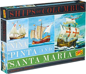 Lindberg HL223 Ships of Columbus The Nina, The Pinta, and The Santa Maria 1:144 Scale Plastic Model Kits - Requires Assembly