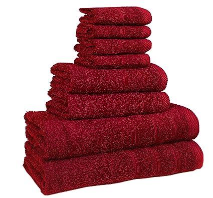 Juego de toallas de calidad de hotel, de bemode, 100% algodón, superssuaves