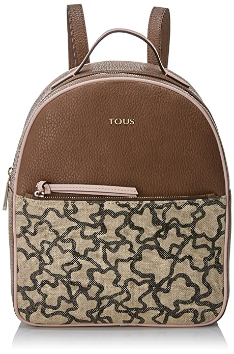 Amazon.com: Tous Elice New Mediana, Womens Backpack Handbag, Multicolour (Marrón-rosa), 10.5x29.5x24 cm (W x H L): Shoes