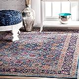 nuLOOM Vintage Persian Floral Isela Rug, 8' x 10', Blue