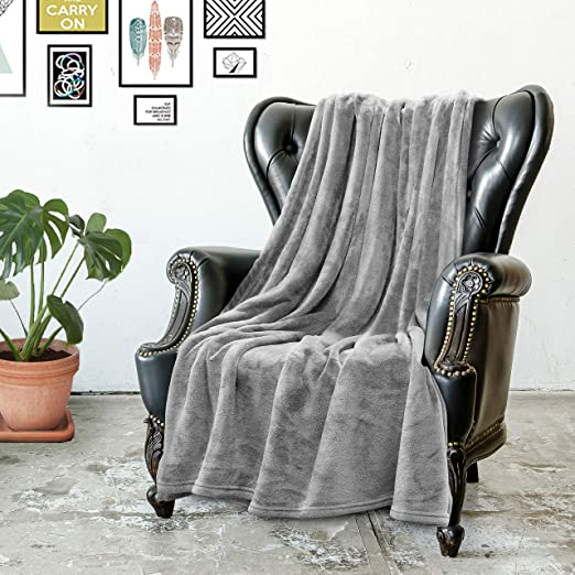 Amazon Com Ultra Soft Fleece Throw Blanket Luxurious Royal