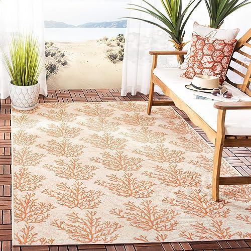 Safavieh Courtyard Collection CY6210-231 Beige and Terracotta Indoor Outdoor Area Rug 9 x 12