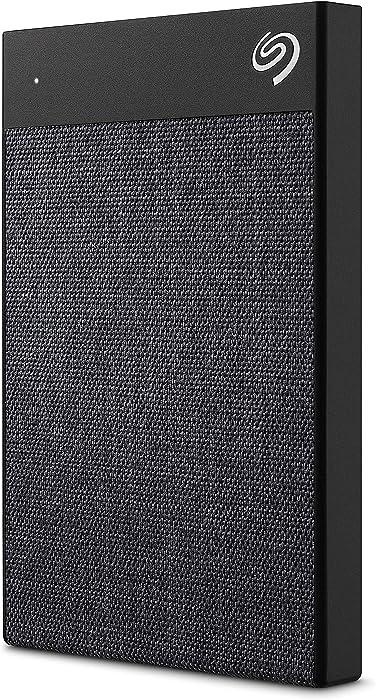 Seagate Backup Plus Ultra Touch 2TB External Hard Drive Portable HDD – Black USB-C USB 3.0, 1yr Mylio Create, 2 months Adobe CC Photography (STHH2000400)