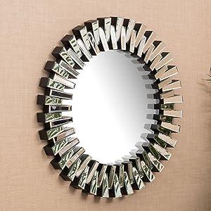 Christopher Knight Home Elaina Circular Wall Mirror, Clear
